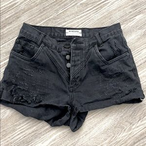 One x one teaspoon black jean shorts
